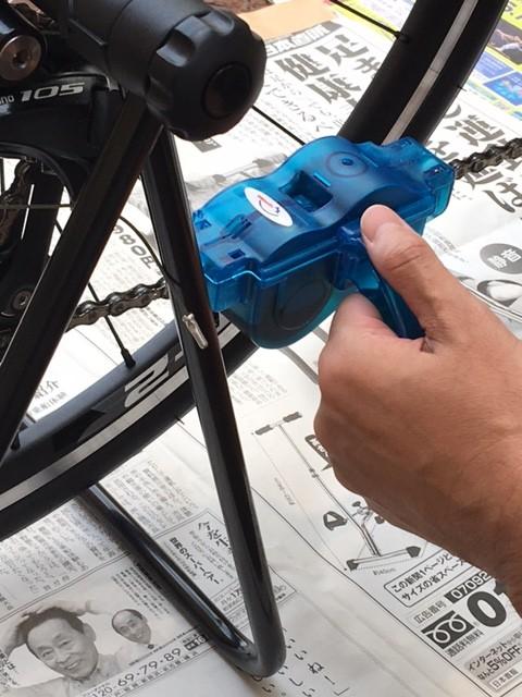 ロードバイクチェーン洗浄2