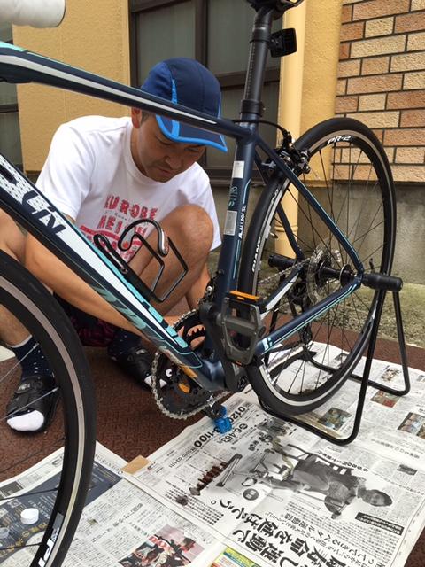 ロードバイクチェーン洗浄4