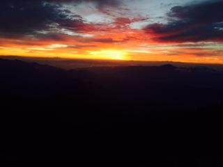 日の出少し前