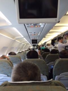 ベトナム航空飛行機内