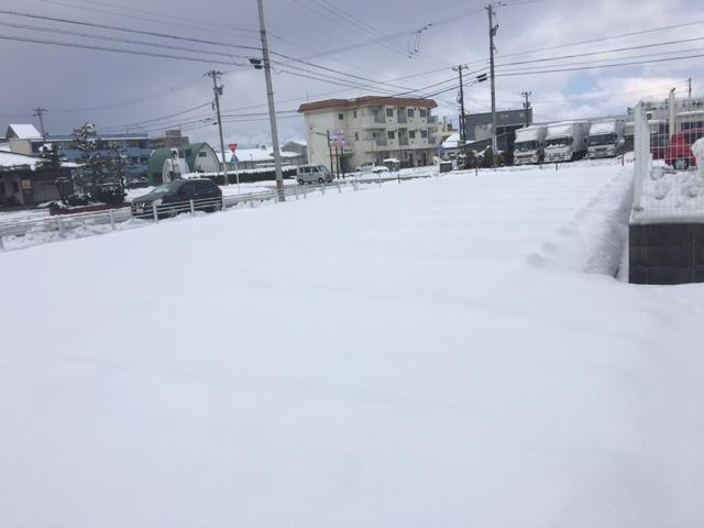 スキット駐車場積雪0211