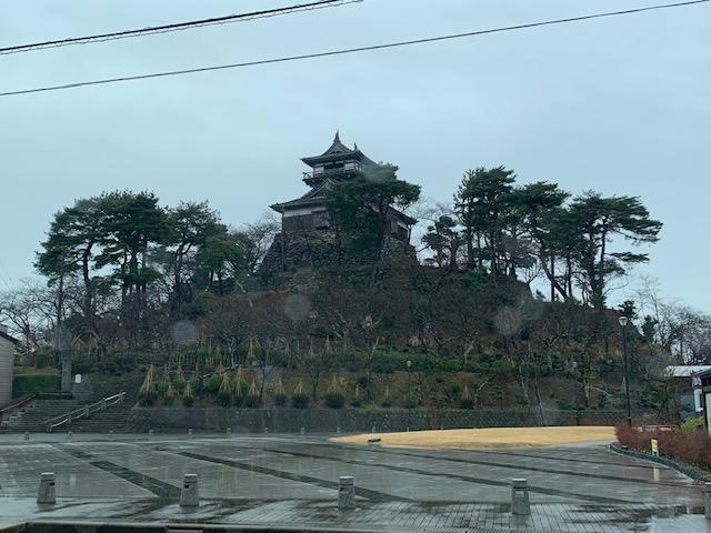 雨の丸岡城